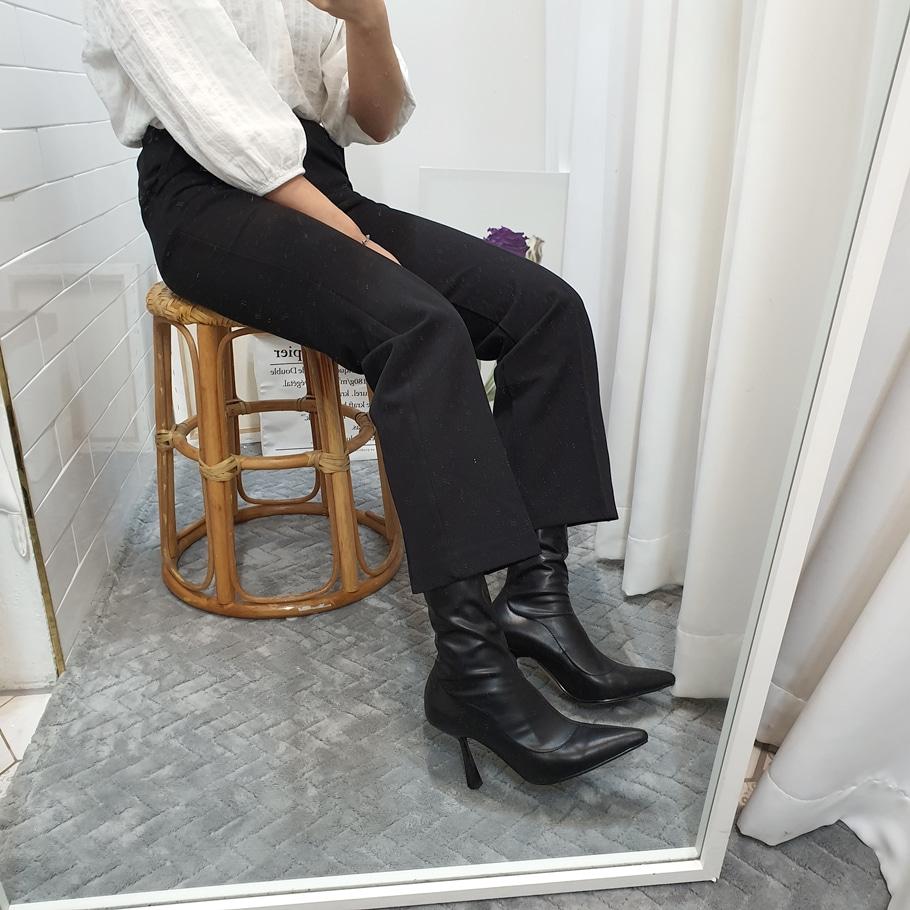 더보이더걸WS-6645(9cm) 뾰족 여자 삭스부츠 미들부츠 하이힐 - 더보이더걸, 58,900원, 부츠, 앵클부츠